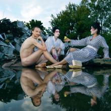 Brave New World? - May or May Not - Reinterpretation of Manet's The Lunch on the Grass  Photograph 140*200cm, Photography by Peter Uhan, 2012