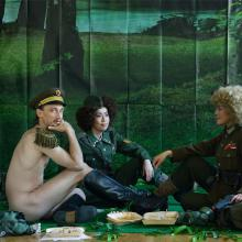 The General's New Clothes - May or May Not - Reinterpretation of Manet's The Lunch on the Grass  Photograph 140*200cm, Photography by Peter Uhan, 2012