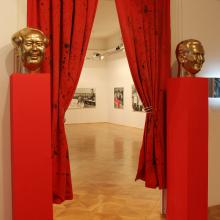 Red Curtains - Installation, Huiqin Wang and Metod Frlic, Loža gallery, 2013