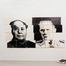 Ideology Puzzle, Huiqin Wang with Arjan Pregl (oil and acrylic on canvas), 24*40*50cm, 2009